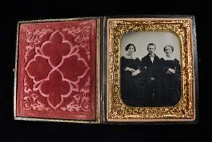 Tin Type Photo Album, Vintage