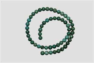 "16"" Strand of Polished Turquois Beads"