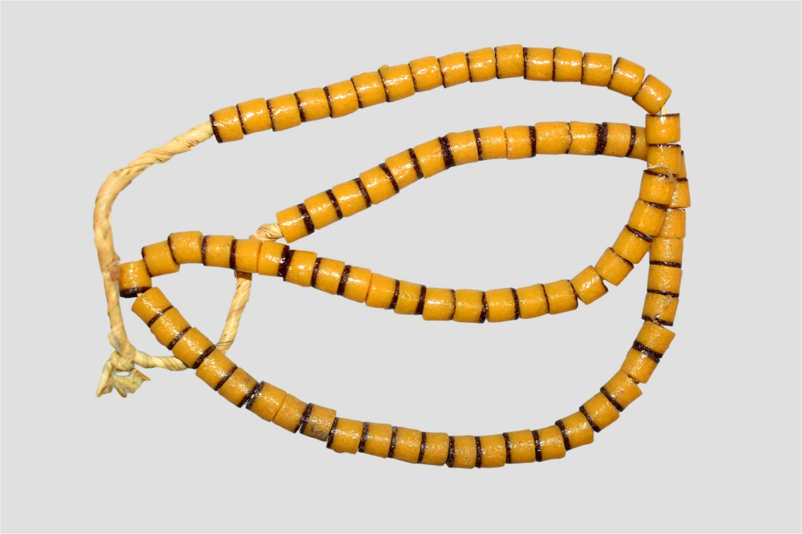 """25"""" Strand of African Sand Cast Beads"""
