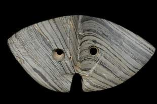 "5 1/8"" Slate Winged Bannerstone Found in Lake Co."