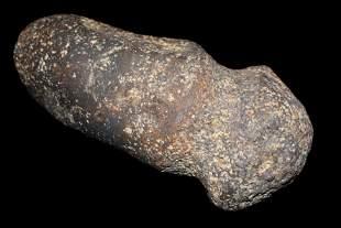 """Rare 6 1/4"""", 3.5lbs Meteorite Full Grooved Axe, COAs"""