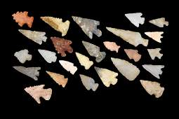 Lot of 25 Bird Points found in Yell County, Arkansas