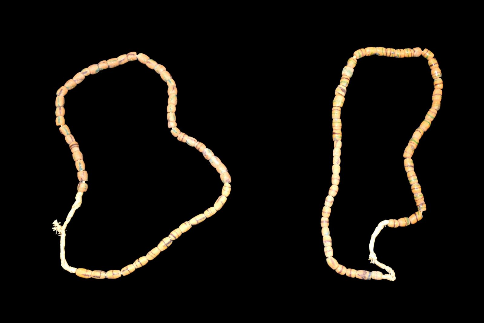2 Strands of African Sandcast Beads