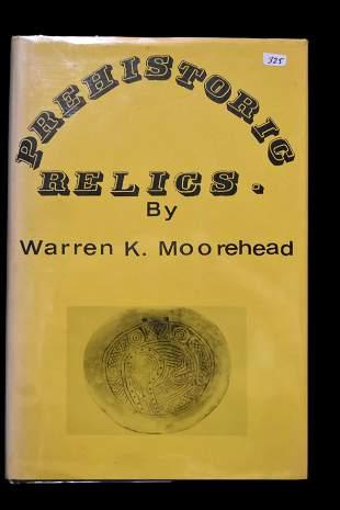 BOOK, PREHISTORIC RELICS BY WARREN K MOOREHEAD, 1968,