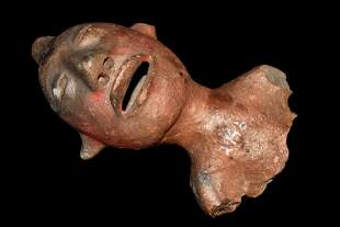 LARGE HUMAN EFFIGY POTTERY FIGURE FROM MEXICO,