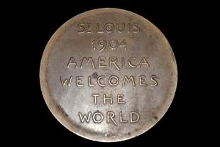 1904 WORLDS FAIR ST LOUIS, AMERICA WELCOMES THE WORLD,