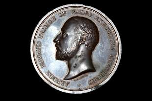 """LARGE 1886 COLONISL & INDIAN EXPO MEDAL, BIG 2"""" WIDE"""
