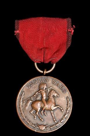 RARE ORIGINAL INDIAN WARS CAMPAIGN MEDAL, AMAZING PIECE