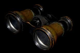 VINTAGE WW1 BINOCULARS, ORIGINAL PERIOD ITEMS, EX
