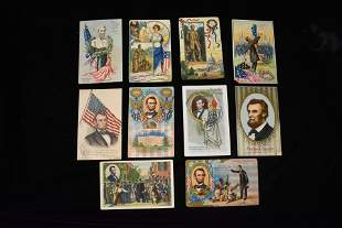 Lot of 10 1908-1909 Vintage Abraham Lincoln Post cards