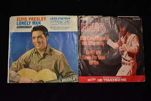 Lot of 2 Elvis Presley 45 RPM's-with slipcovers