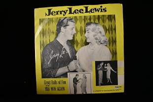 Rare 45 w/ Sleeve- Jerry Lee Lewis- Great Balls of Fire