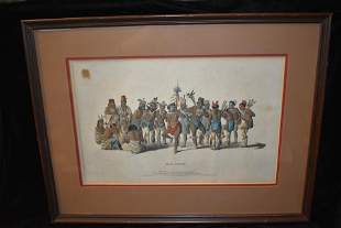 "McKenney & Hall ""War Dance of the Sauk & Fox''"