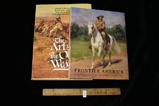 2 Books- Fronteir America, The Art of the Old West