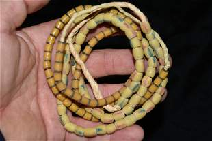 2 Strands of Neolithic sand cast trade beads, Africa,
