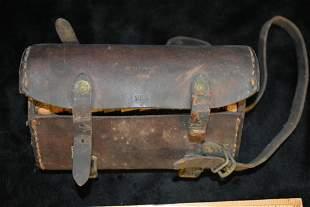 World War 1 Leather Pouch S.W.C.O. 1918 H.B.M
