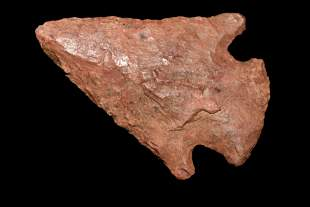 """2 1/8"""" Corner Notch found in Arkansas, Colorful Red"""