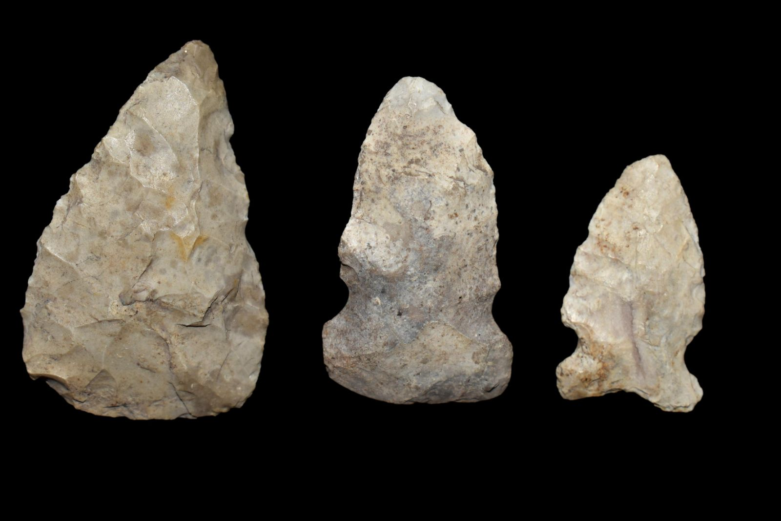 Grouping of Illinois Arrowheads, Authentic Native