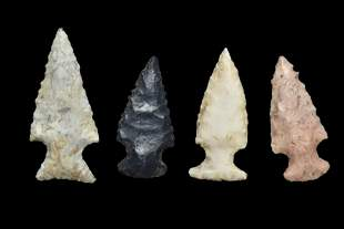 Grouping of Birdpoints, found in Madison Co., Illinois,