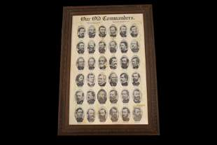 """1905 Poster of Civil War Generals, """"Our Old"""