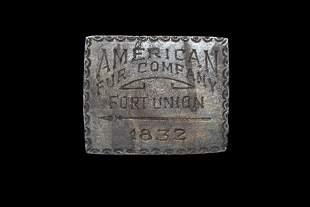 1832 American Fur Company Fort Union 20 cent token