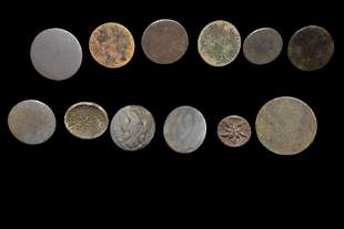 Lot of 12 Fur Trade Buttons found in Minnesota