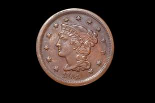1854 LARGE CENT, EARLY US COIN
