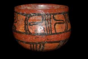"3"" Solid Mayan Bowl-Well Painted- ex. Dennis DeRosear"