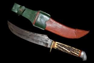 Vintage Original Buffalo Skinner #48 Knife w/Sheath