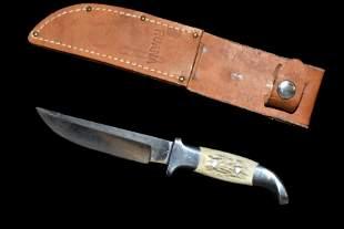 Vintage Ruana Bonner Montana Knife w/Sheath
