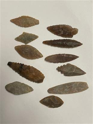 Grouping of Neolithic Arrowheads Northern Africa.