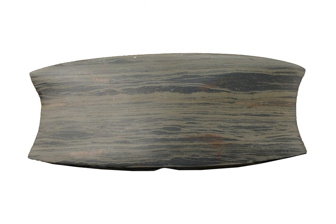 Highly Developed Banded Slate Reel Bannerstone, Wayne