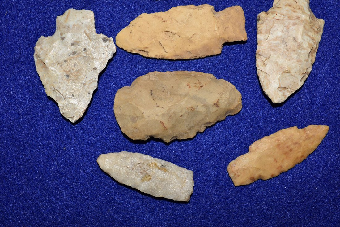 LOT OF 12 MISSOURI ARROWHEADS, GOOD RESELLABLE POINTS - 2