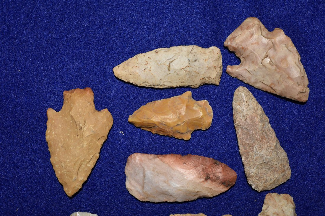 LOT OF 12 MISSOURI ARROWHEADS, GOOD RESELLABLE POINTS - 4