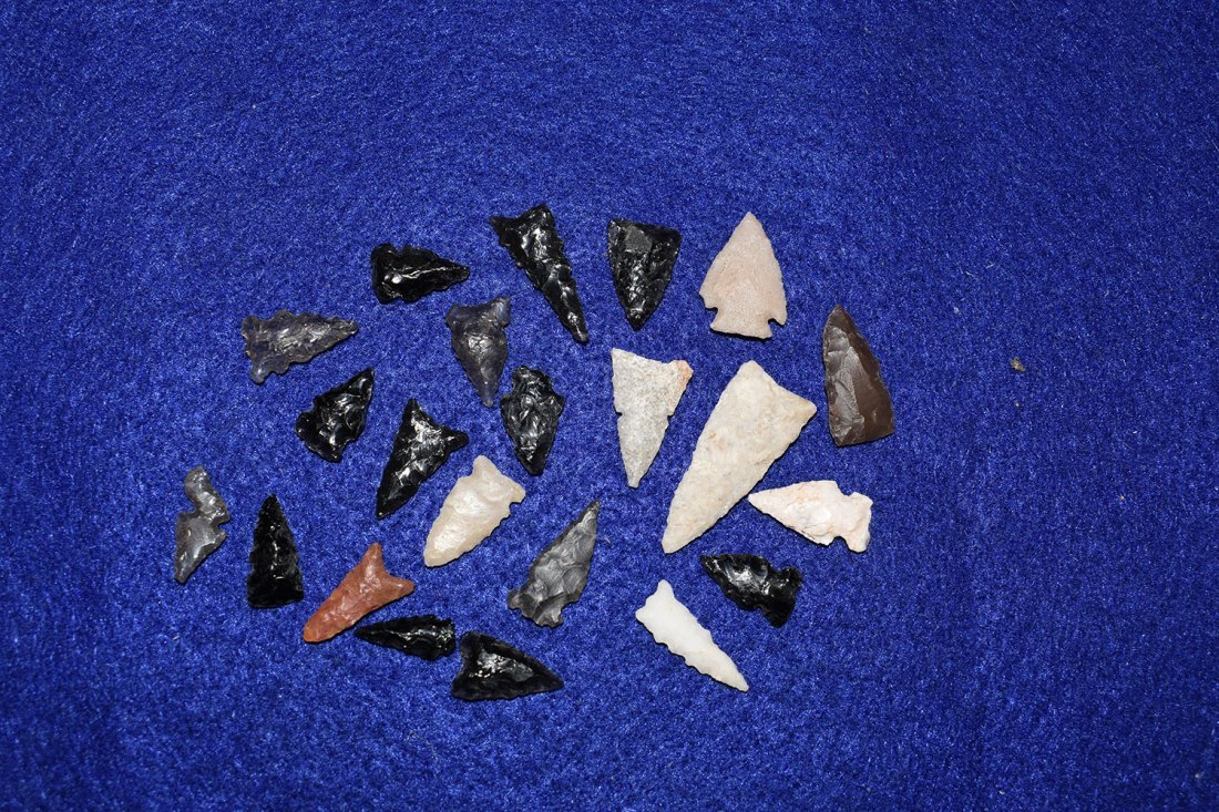 LOT OF 22 BIRD POINTS, FOUND NEAR SADONA ARIZONA, SOME