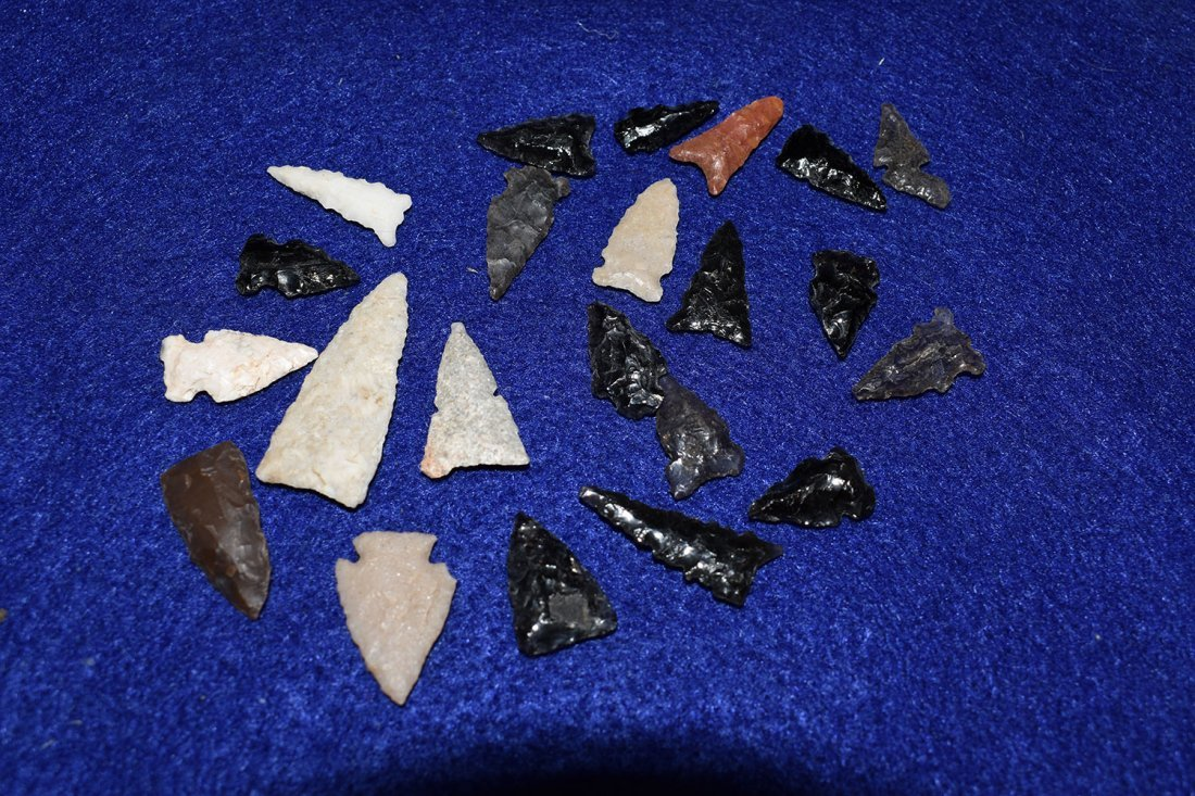 LOT OF 22 BIRD POINTS, FOUND NEAR SADONA ARIZONA, SOME - 3