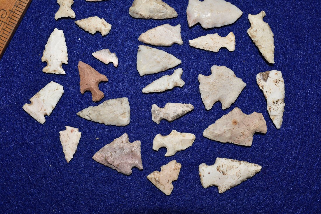 LOT OF 29 BIRD POINTS, FOUND IN RALLS COUNTY MISSOURI - 3
