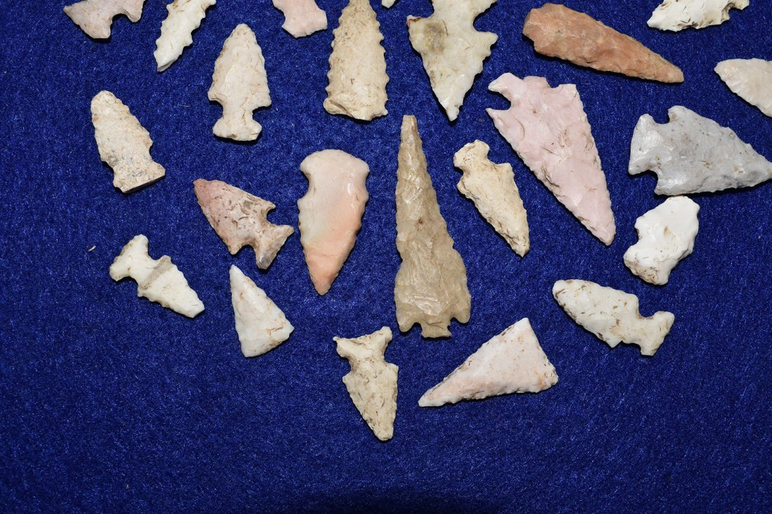 LOT OF 29 BIRD POINTS, FOUND IN RALLS COUNTY MISSOURI - 2