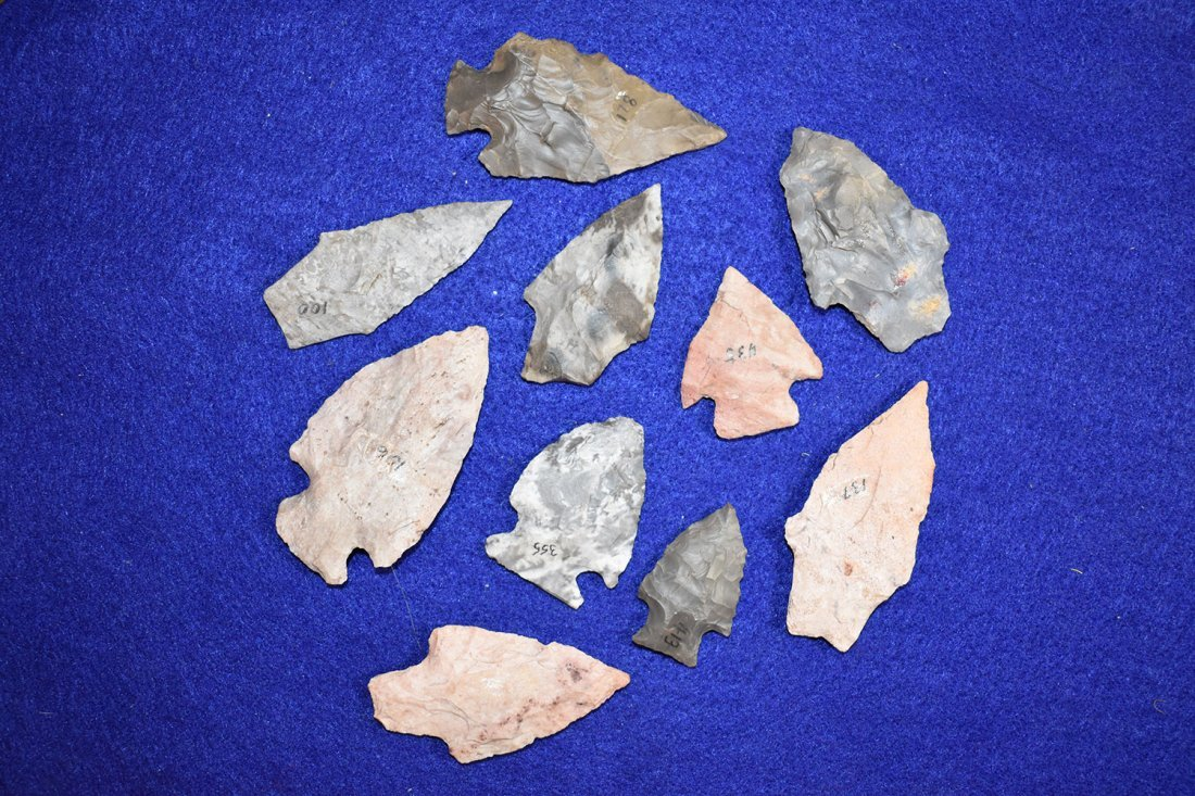 10 NICE COLORFUL WOODLAND POINTS, FORT SMITH ARKANSAS