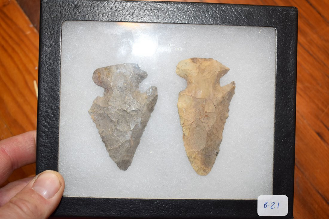 NICE PAIR OF E-NOTCH THEBES FOUND IN HURON COUNTY, - 2