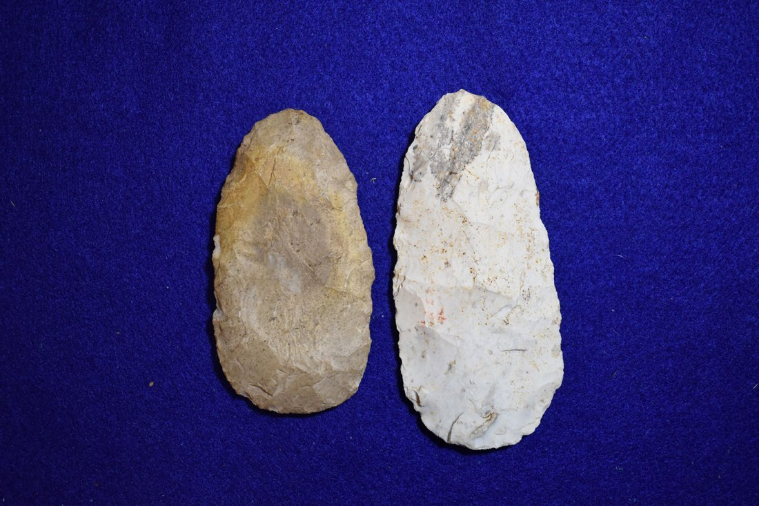 PAIR OF NICE FLINT CELTS FROM STODDARD COUNTY,