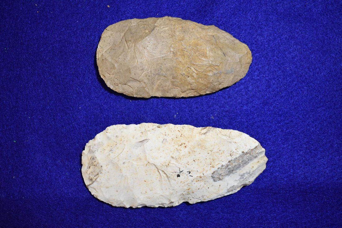 PAIR OF NICE FLINT CELTS FROM STODDARD COUNTY, - 2