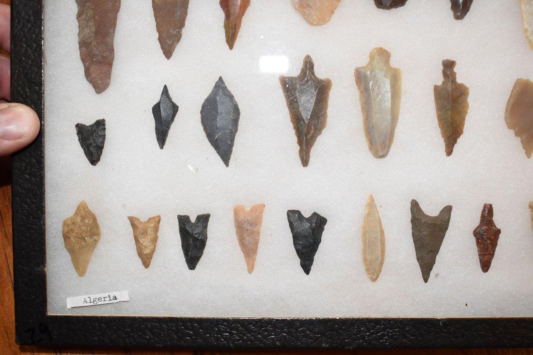 "8  1/2"" X 12"" FRAME OF 29 - 10,000 YEAR OLD ALGERIAN - 5"