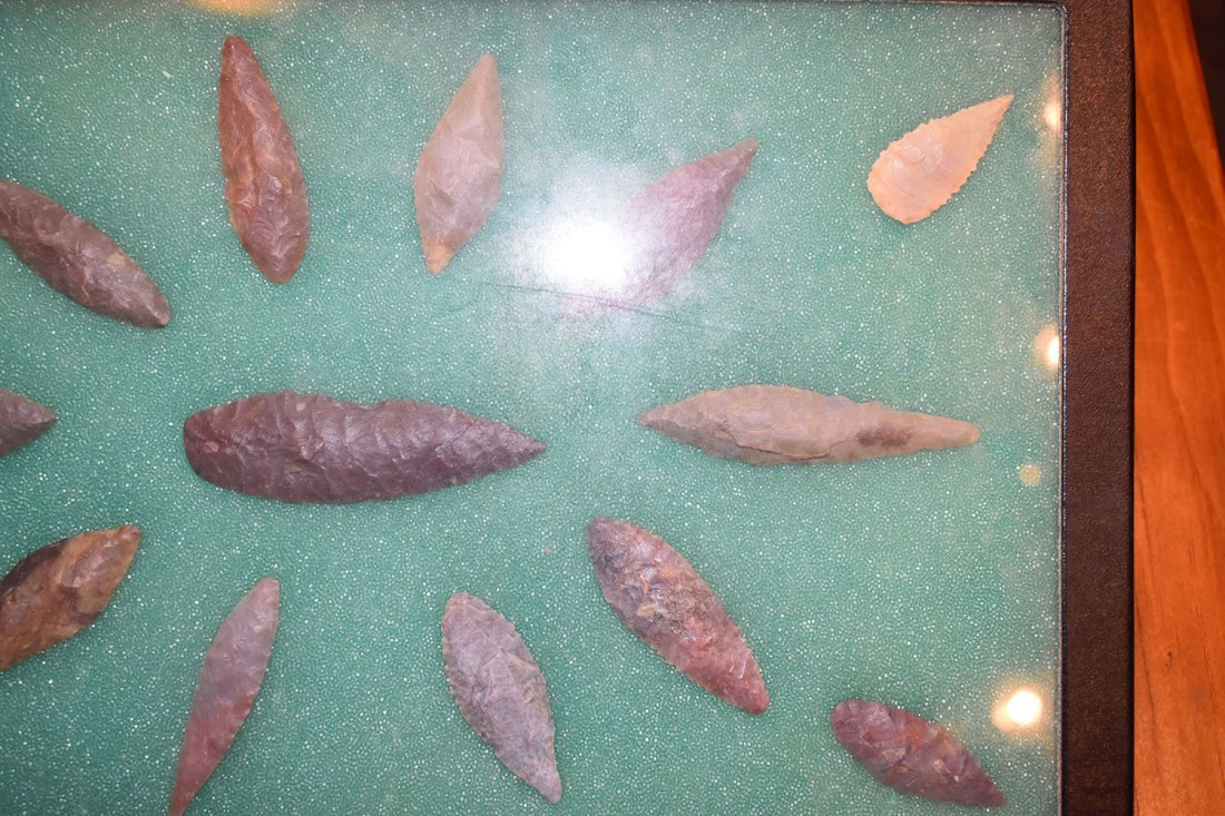 "8  1/2"" X 12"" FRAME OF 15 CHOICE NEOLITHIC WILLOWLEAF - 3"