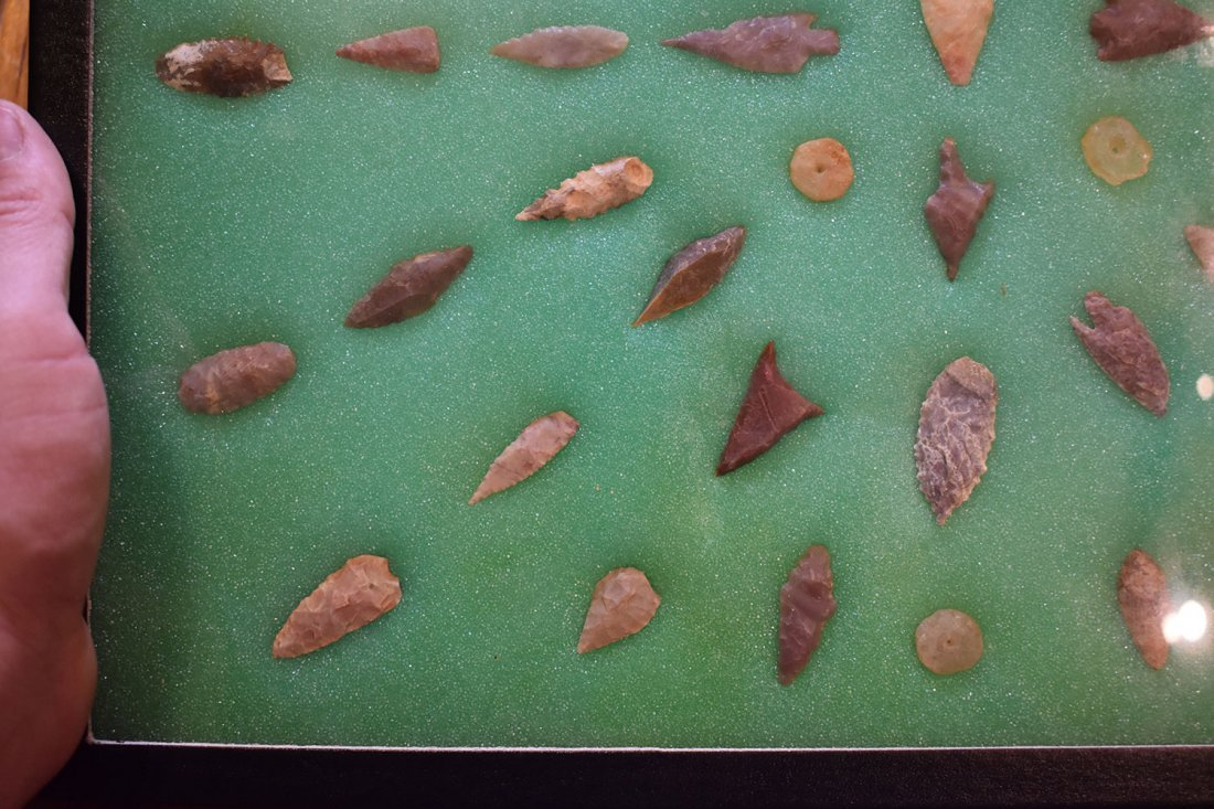 "12  1/2"" X 16"" FRAME OF 50 AFRICAN NEOLITHIC POINTS & - 3"