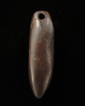 Drilled Hematite Plummet, 3 1/4 inch, Morehouse Parish