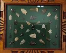 Frame of Arrowheads Plains Indian