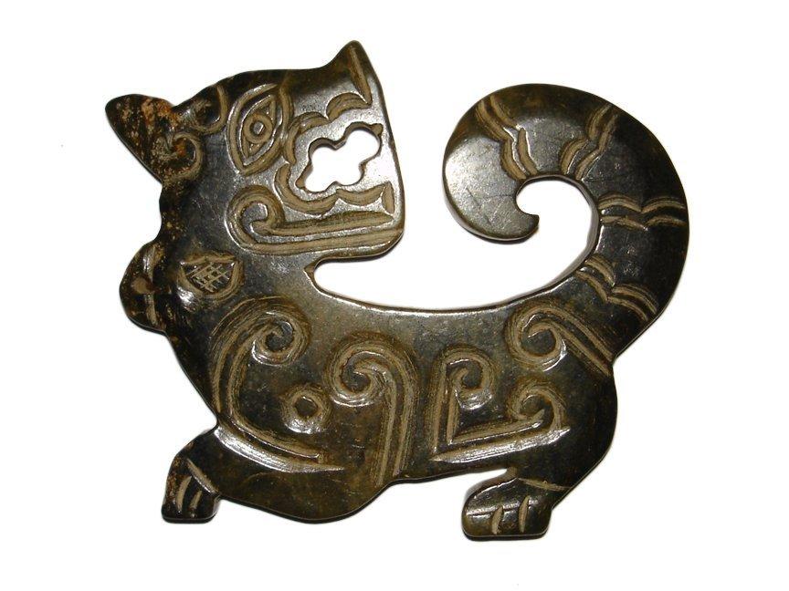 Qing Dynasty Jade Tiger Pei