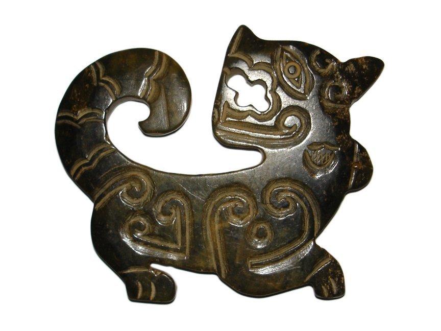 Qing Dynasty Jade Tiger Pei - 2