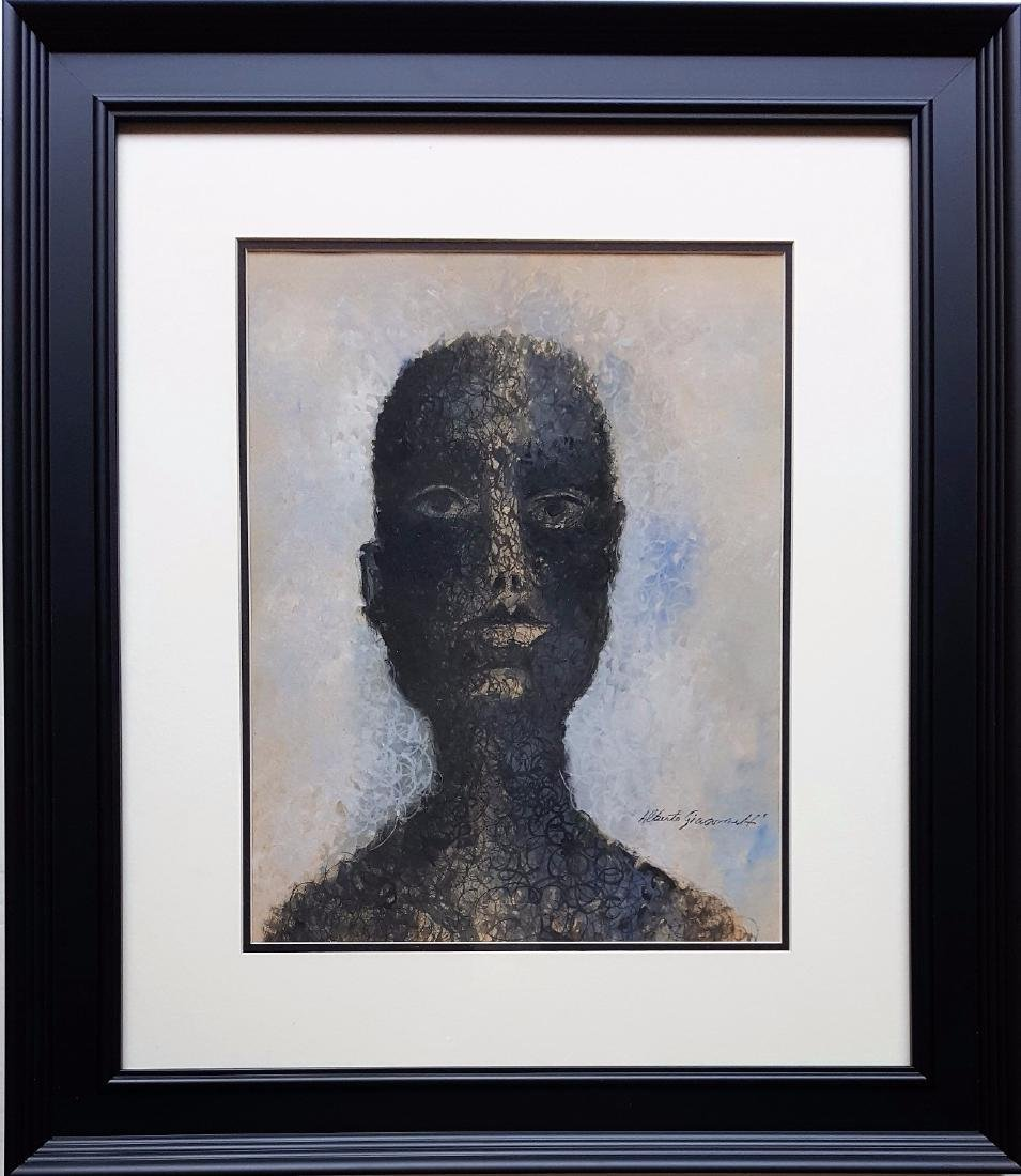Alberto GIACOMETTI mixed media on paper signed